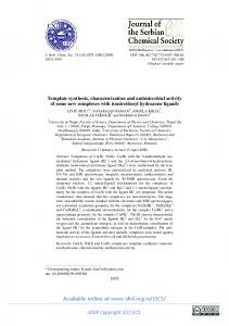 Template synthesis, characterization and antimicrobial ... - doiSerbia