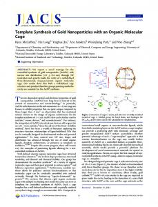 Template Synthesis of Gold Nanoparticles with an