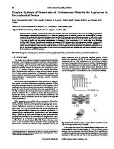 Template Synthesis of Nanostructured ... - IngentaConnect
