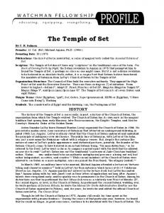 Temple of Set Profile - Watchman Fellowship