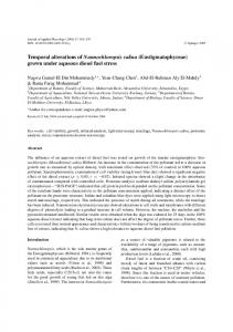 Temporal alterations of Nannochloropsis salina - Springer Link