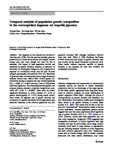 Temporal analysis of population genetic composition in the ...
