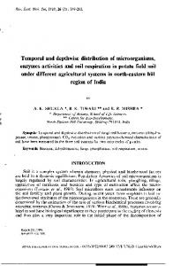 Temporal and depthwise distribution of microorganisms, enzymes ...