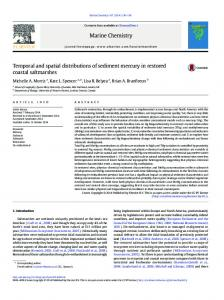 Temporal and spatial distributions of sediment ... - CyberLeninka