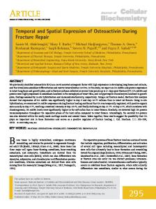 Temporal and spatial expression of osteoactivin ... - Wiley Online Library