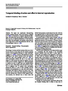 Temporal binding of action and eVect in interval reproduction