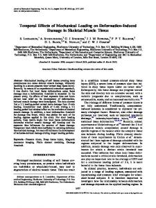 Temporal Effects of Mechanical Loading on ... - Semantic Scholar