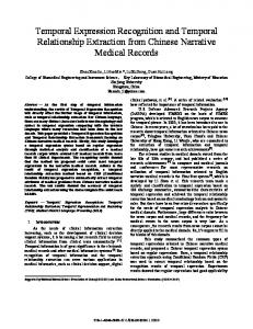 Temporal Expression Recognition and Temporal ... - Semantic Scholar