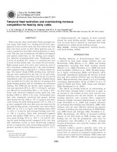 temporal feed restriction and overstocking increase ...
