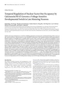Temporal Regulation of Nuclear Factor One Occupancy by ...