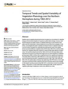 Temporal Trends and Spatial Variability of ... - Semantic Scholar