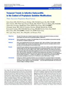 Temporal Trends in Infective Endocarditis in the Context of ...
