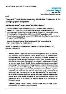Temporal Trends in the Secondary Metabolite
