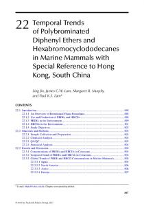 Temporal Trends of Polybrominated Diphenyl Ethers ...