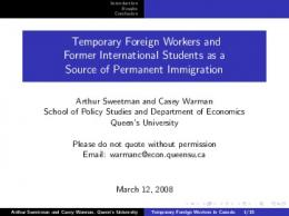 Temporary Foreign Workers and Former International Students as a ...