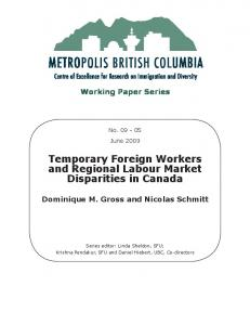 Temporary Foreign Workers and Regional Labour ... - Metropolis BC