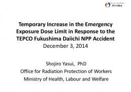 Temporary Increase in the Emergency Exposure ...