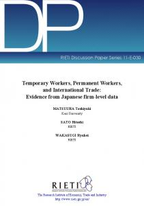 Temporary Workers, Permanent Workers, and International Trade