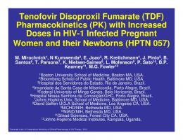 Tenofovir Disoproxil Fumarate (TDF ... - Virology Education