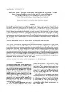 Tensile and Water Absorption Properties of Biodegradable ...