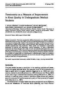 Tensiometry as a Measure of Improvement in Knot ... - Springer Link