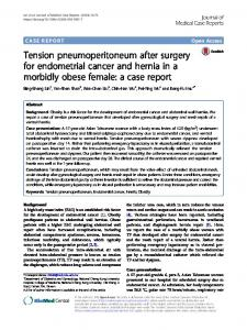 Tension pneumoperitoneum after surgery for endometrial cancer and ...