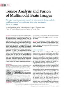 Tensor Analysis and Fusion of Multimodal Brain Images - IEEE Xplore