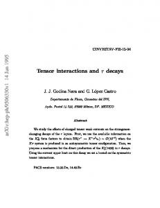 Tensor interactions and $\tau $ decays