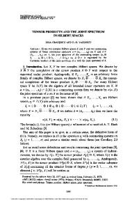 Tensor products and the joint spectrum in Hilbert spaces - American ...