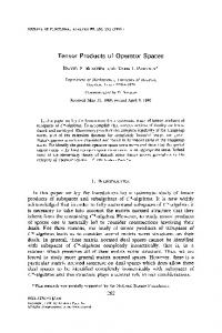 Tensor Products of Operator Spaces - Core