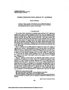 TENSOR PRODUCTS OVER ABELIAN W - American Mathematical ...