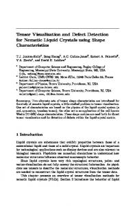 Tensor Visualization and Defect Detection for Nematic Liquid Crystals ...
