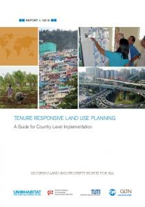 tenure responsive land use planning