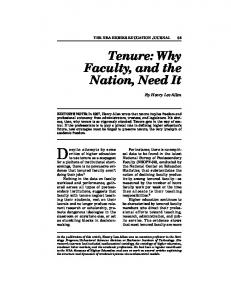 Tenure: Why Faculty, and the Nation, Need It - NEA