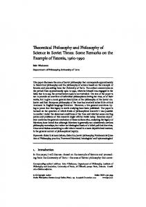 Teoretical Philosophy and Philosophy of Science in Soviet Times ...