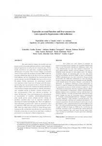Tepoxalin on renal function and liver enzymes in cats ... - SciELO