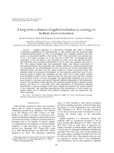 term evaluation of applied nucleation as a strategy ... - Semantic Scholar