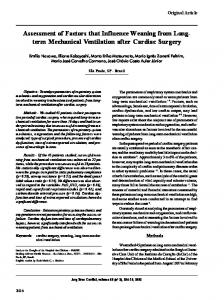 term Mechanical Ventilation after Cardiac Surgery - SciELO