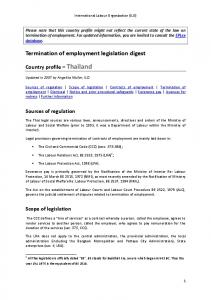 Termination of employment legislation digest - International Labour ...