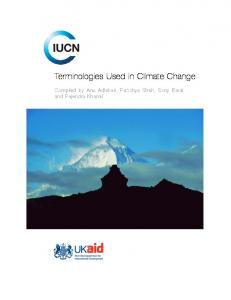 Terminologies Used in Climate Change - Bad Request - IUCN