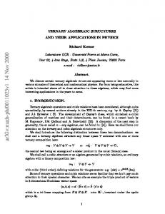 Ternary algebraic structures and their applications in physics