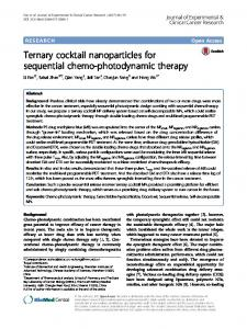 Ternary cocktail nanoparticles for sequential chemo-photodynamic ...