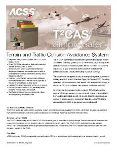 Terrain and Traffic Collision Avoidance System - ACSS