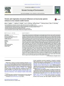 Terrain and vegetation structural influences on local avian ... - CiteSeerX