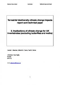 Terrestrial biodiversity climate change impacts report ...