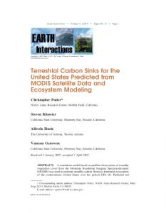 Terrestrial Carbon Sinks for the United States Predicted from MODIS ...
