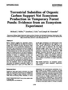 Terrestrial Subsidies of Organic Carbon Support Net Ecosystem ...