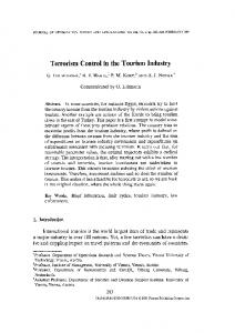 Terrorism Control in the Tourism Industry