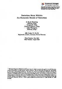 Terrorism From Within: An Economic Model of