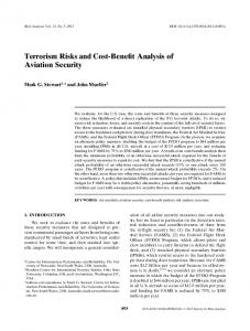 Terrorism Risks and CostBenefit Analysis of Aviation Security - OSU